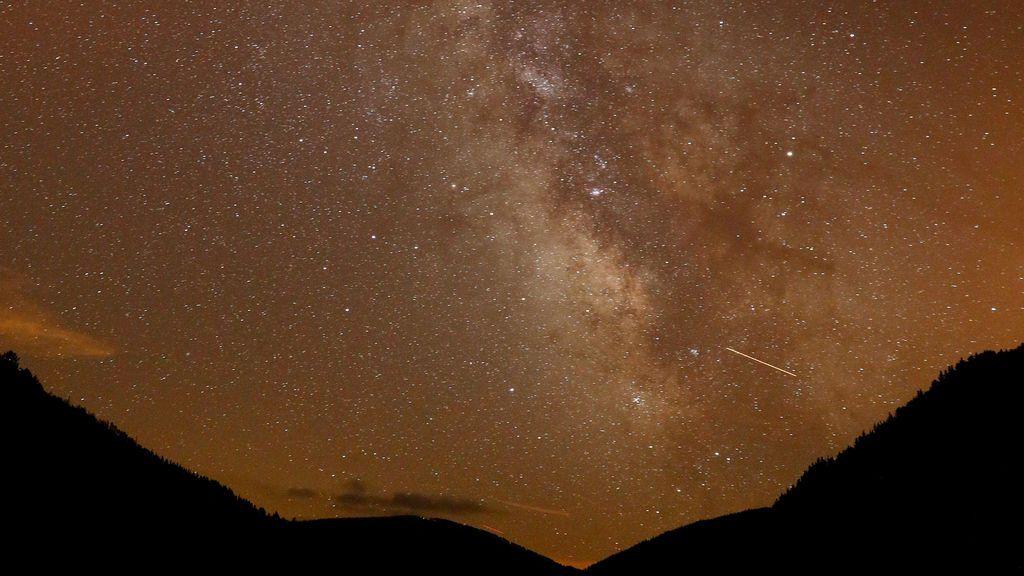 Vía Láctea vista durante la lluvia de estrellas desde Granada