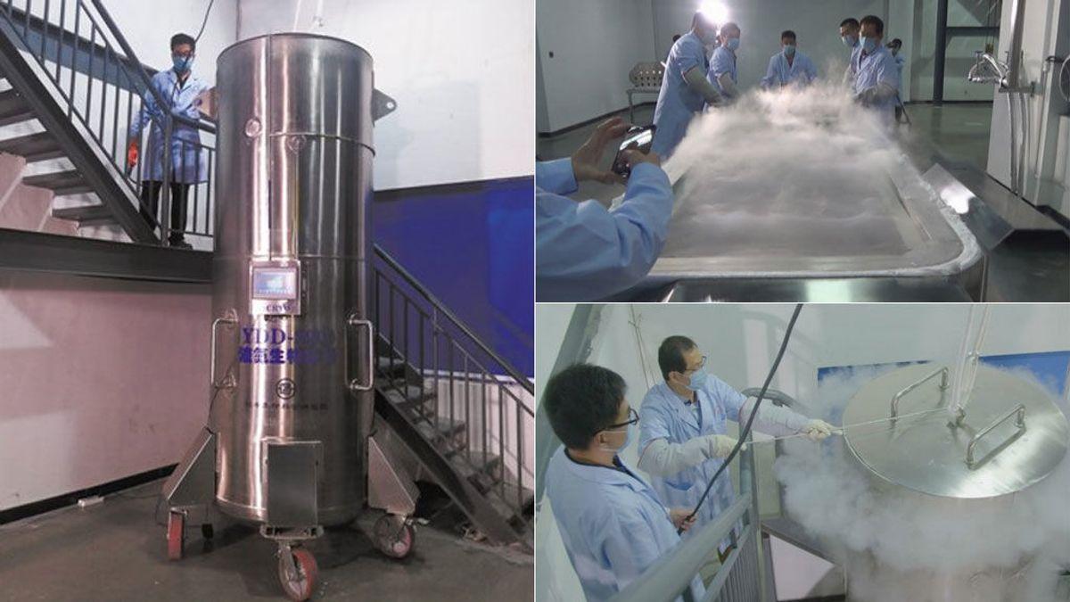 Primera criogenización de un cuerpo entero en China