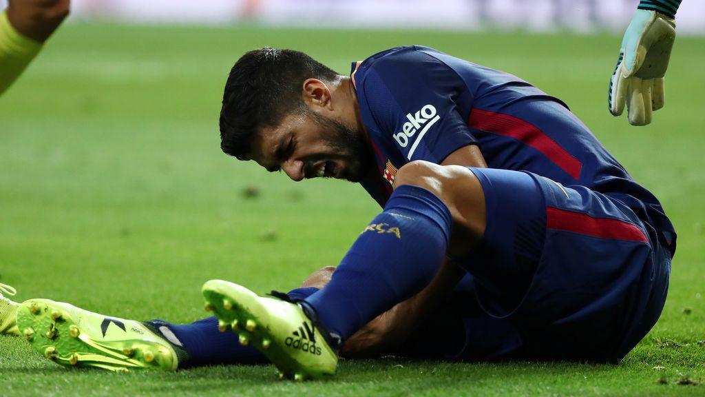Luis Suárez estará, al menos, un mes de bajas tras el golpe en la rodilla derecha