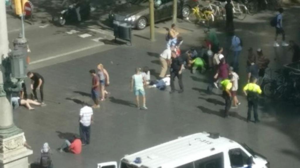 Atropello masivo en Las Ramblas de Barcelona