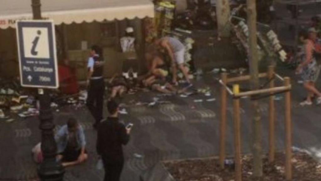Atropello masivo en La Rambla de Barcelona