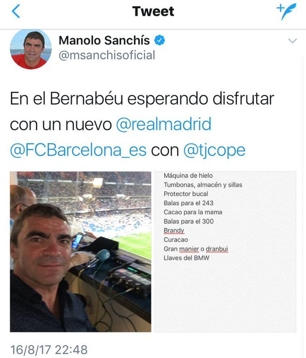 Tuit compra Sanchís