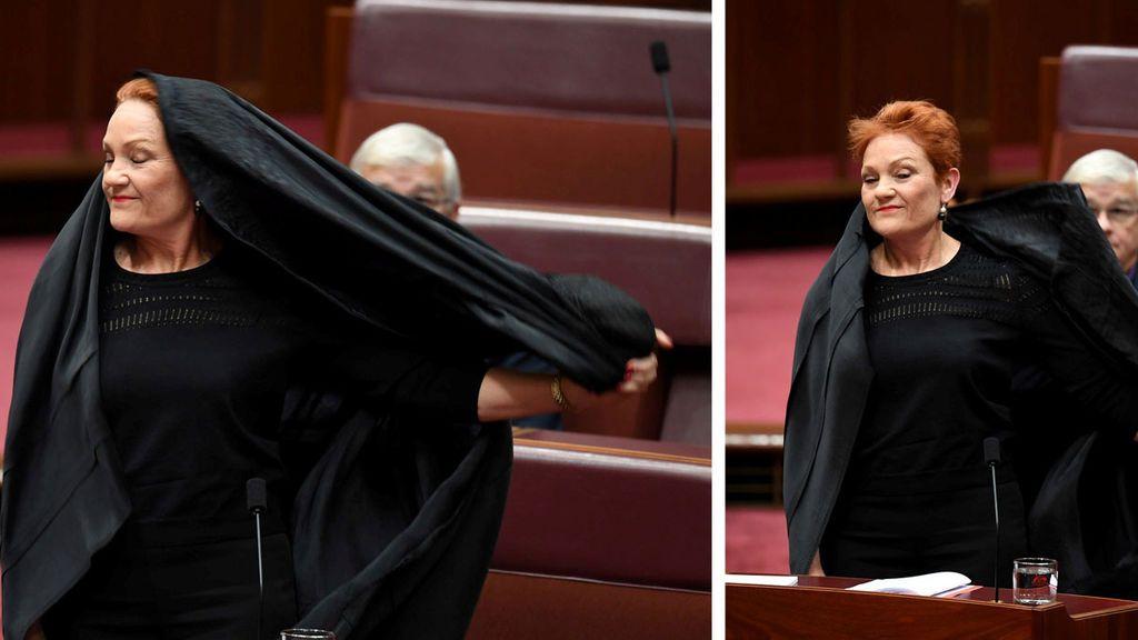 niqab senadora australiana