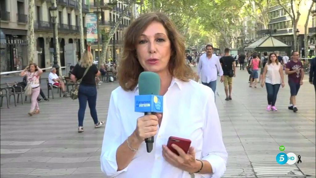 Ana Rosa en Las Ramblas: la presentadora regresa para explicar cómo sucedió el atentado