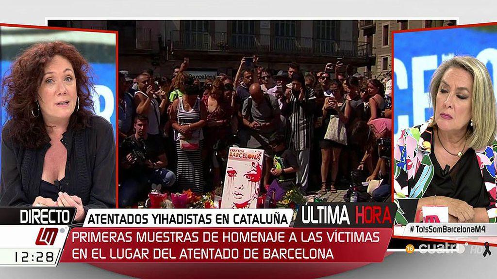 """Cristina Fallarás: """"Mi hijo estaba en Las Ramblas y tuve que guiarle por teléfono"""""""