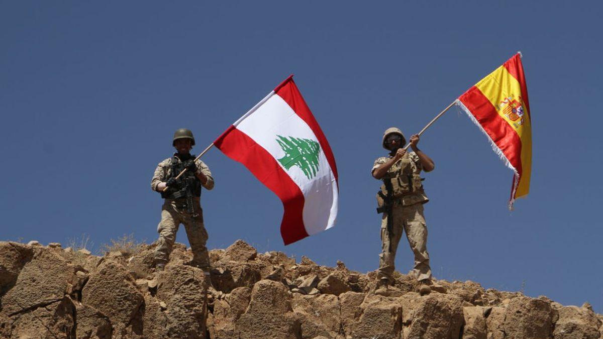 El homenaje del ejército de Líbano a España tras quitarle territorios al Estado Islámico