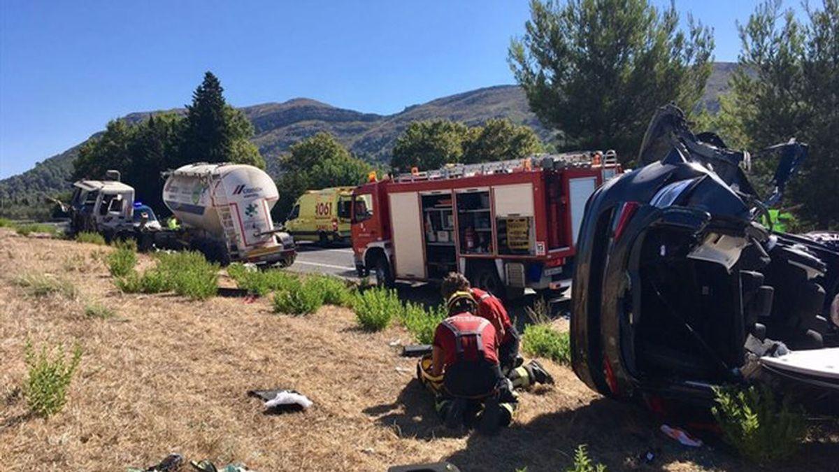 Tres fallecidos en un accidente múltiple en Sa Pobla (Mallorca)