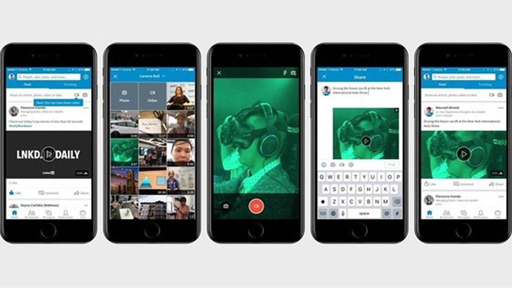 LinkedIn introduce los vídeos nativos y un icono de estado para iniciar conversaciones