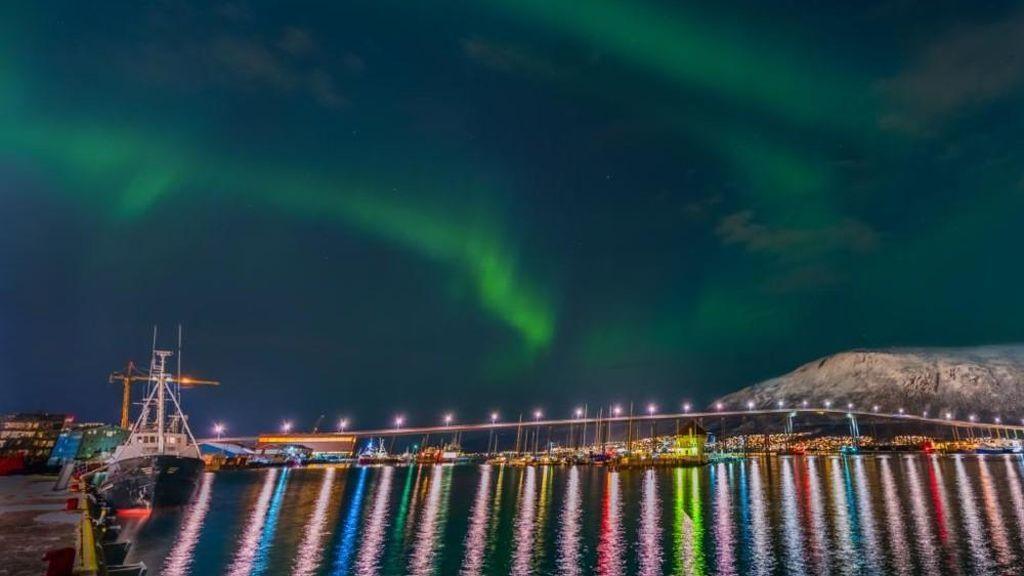 Foto realizada por Derek Burdeny, en Tromsø (Noruega)