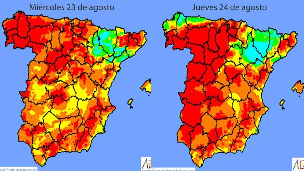 ¡Alerta! Nivel extremo por riesgo de incendios en toda España