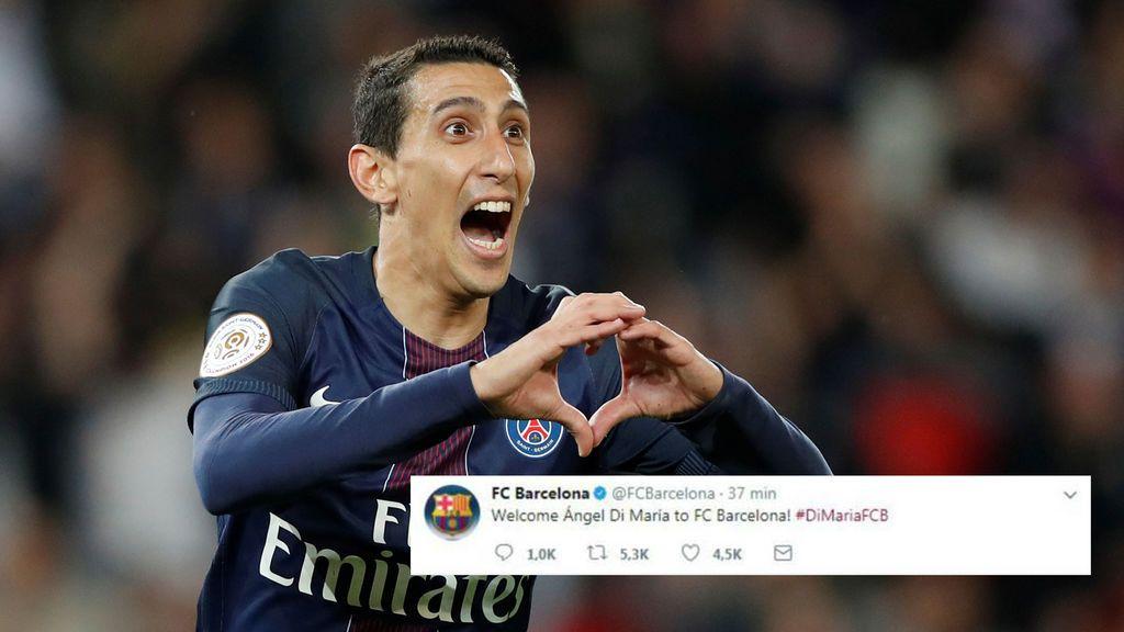 Unos hackers se hacen con el control del Twitter del Barça y anuncian el fichaje de Di María
