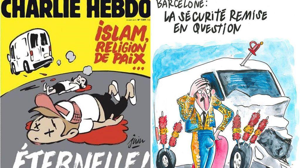 Polémica por la portada de 'Charlie Hebdo' sobre el atentado de Barcelona