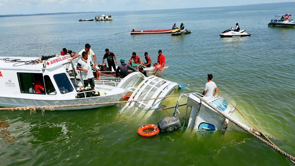 Naufragio en río de Brasil: 10 muertos y unos 30 desaparecidos