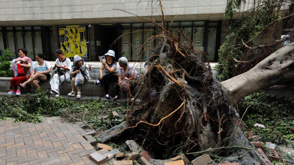 Las terribles consecuencias del tifón Hato
