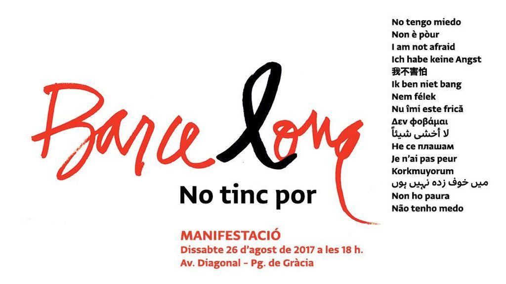 Cartel manifestación Barcelona
