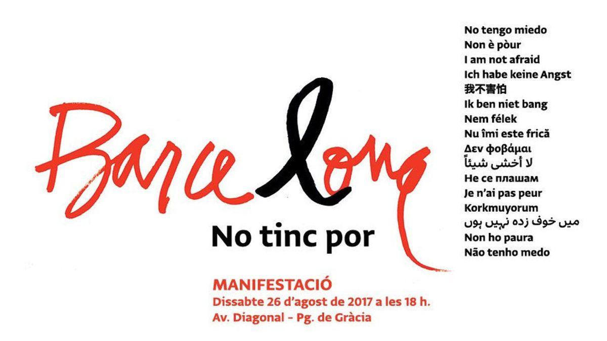Manifestación Barcelona cartel