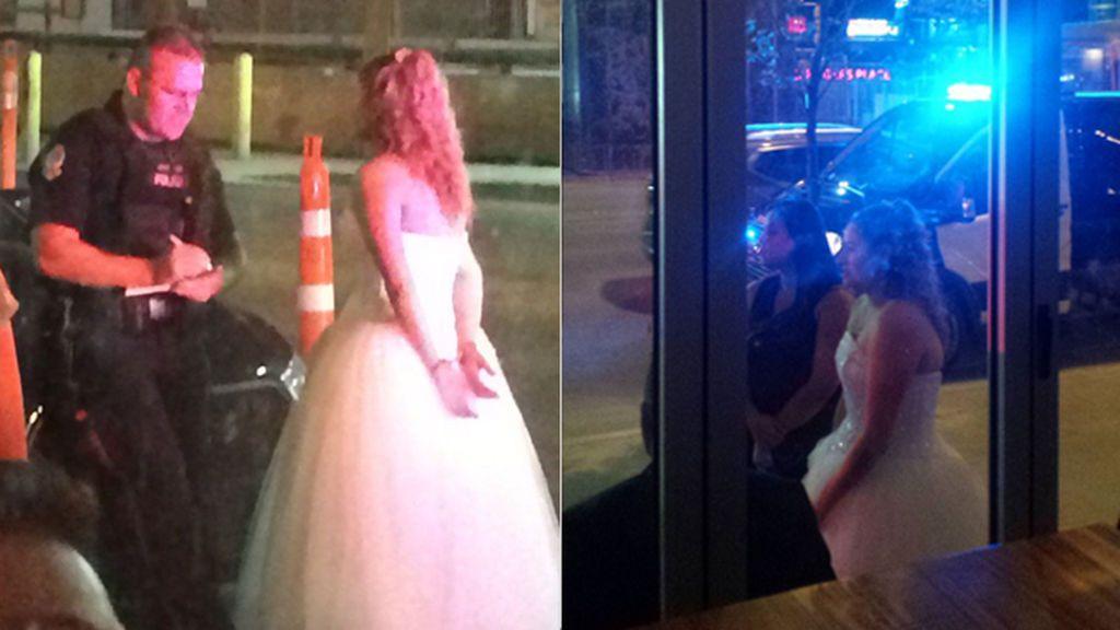 Marido y mujer pasan su noche de boda… en el calabozo