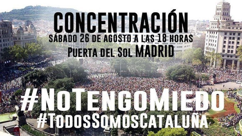 Convocan una concentración en Madrid como apoyo a la de Barcelona contra el terrorismo