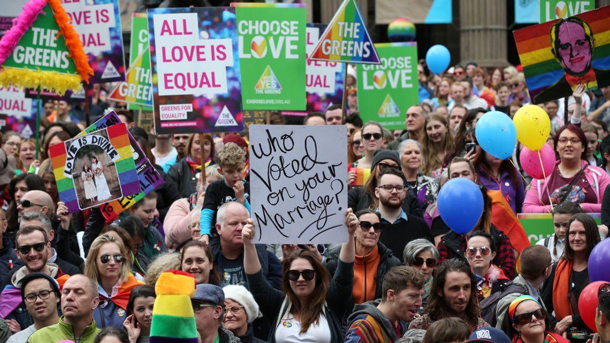 Miles de personas se manifiestan a favor del matrimonio homosexual en Australia