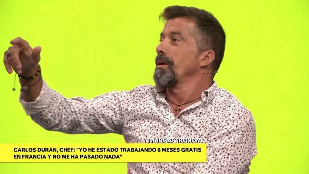 """El zasca de José Luis al chef Carlos Durán: """"Si no tuvieras becarios en tu cocina no podrías dar de comer"""""""