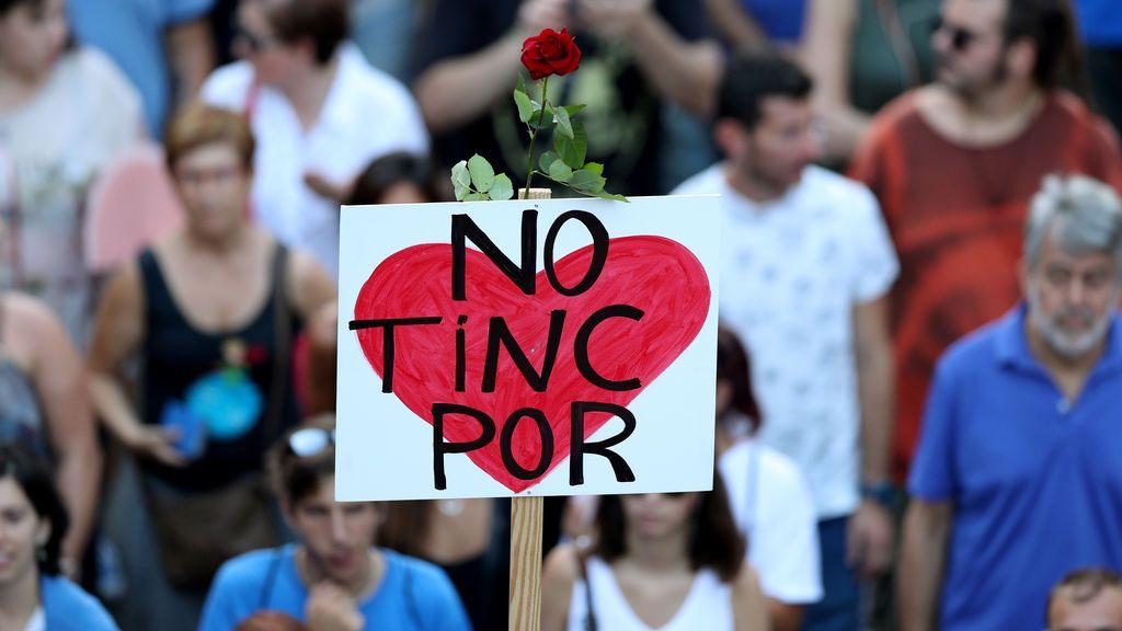 """Barcelona grita """"no tengo miedo"""" como repulsa ante el terrorismo"""