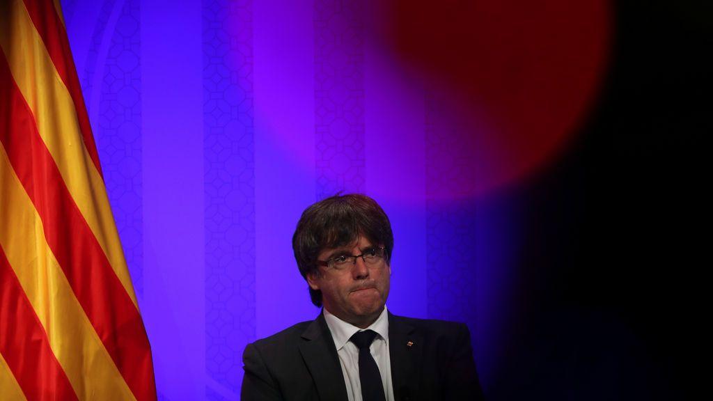 """Puigdemont apuesta por una """"transición corta"""" a la independencia si gana el 'sí' el 1-O"""