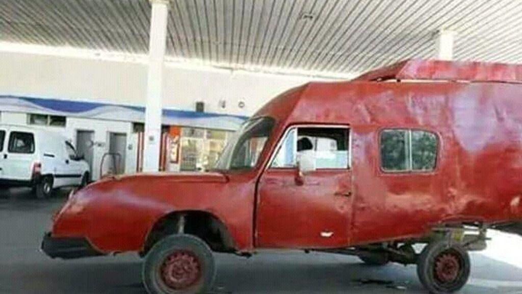 El 'tuit' de una peculiar furgoneta que hace reír a miles de usuarios