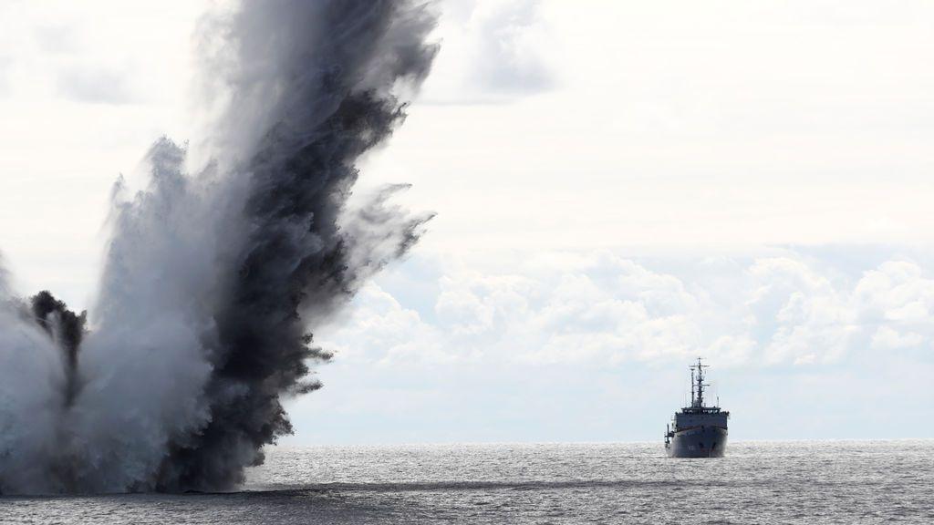 Detonación controlada de una bomba por parte de la OTAN