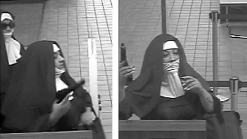 El FBI busca a dos 'monjas' armadas que intentaron robar un banco