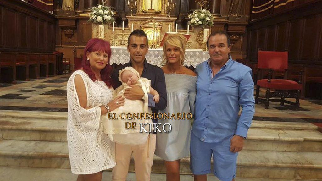 Saray y Pilarita 'Gran Hermano 11' celebran el bautizo de Diego Junior