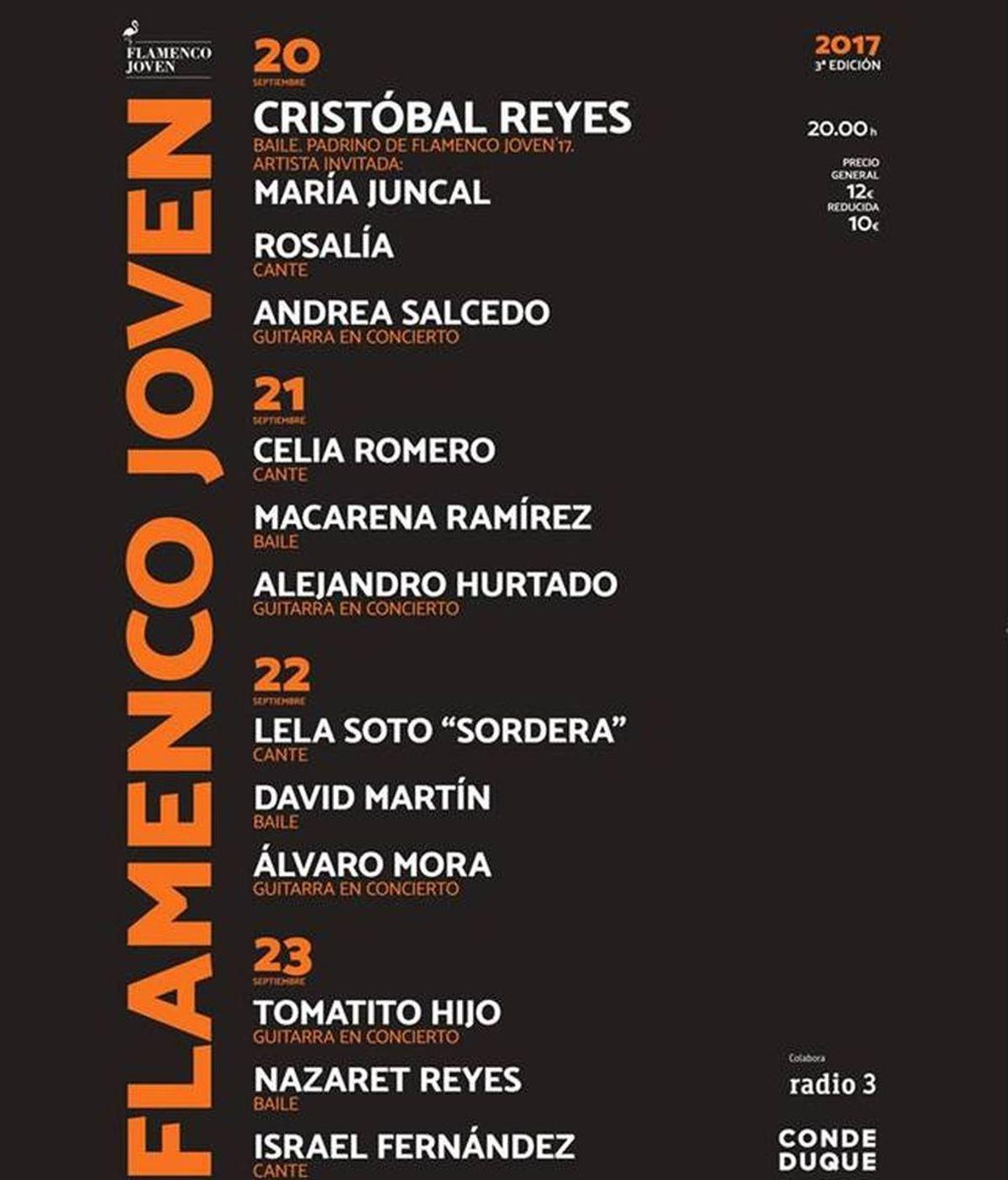 Flamenco Joven'17: Los nuevos valores del cante en el Conde Duque hasta el 23 de septiembre