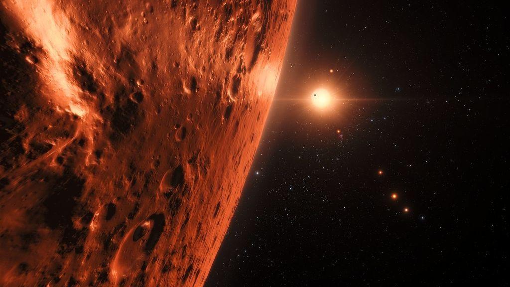 Primeros indicios de agua en el sistema TRAPPIST 1