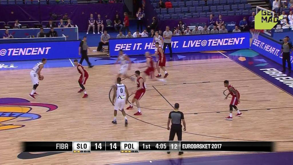 ¡Triplazo de Doncic de NBA! Amaga y la clava desde muy lejos