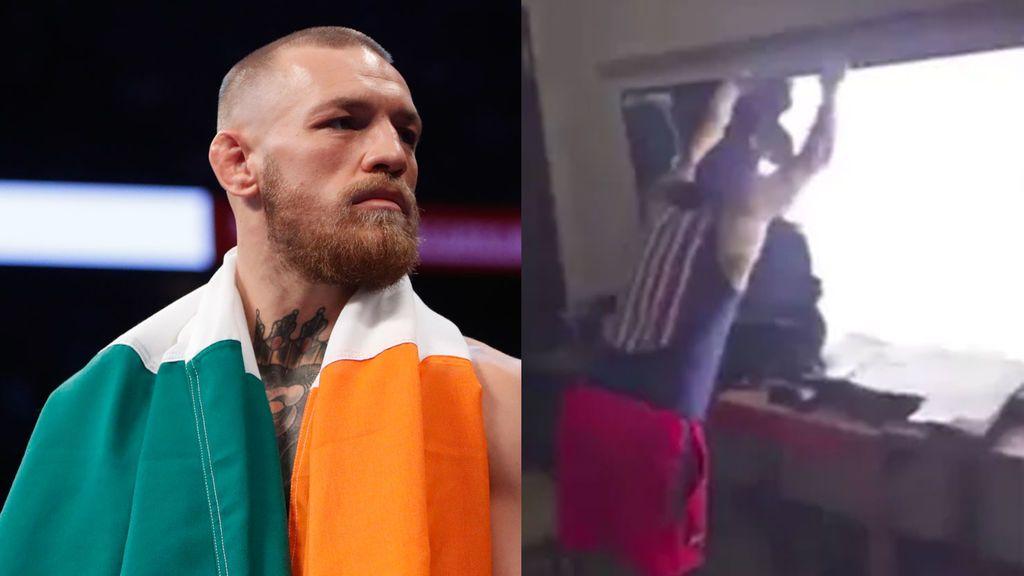 ¡A puñetazos con la tele! La brutal reacción de este fan de McGregor tras su derrota
