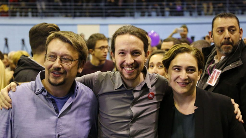 Iglesias, Colau y Domènech participarán en un acto de la Diada el 11 de septiembre