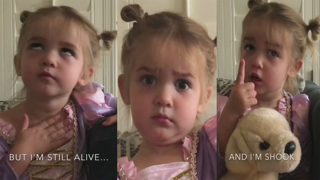 Así cuenta esta niña de dos años su 'dramático'  ingreso en preescolar