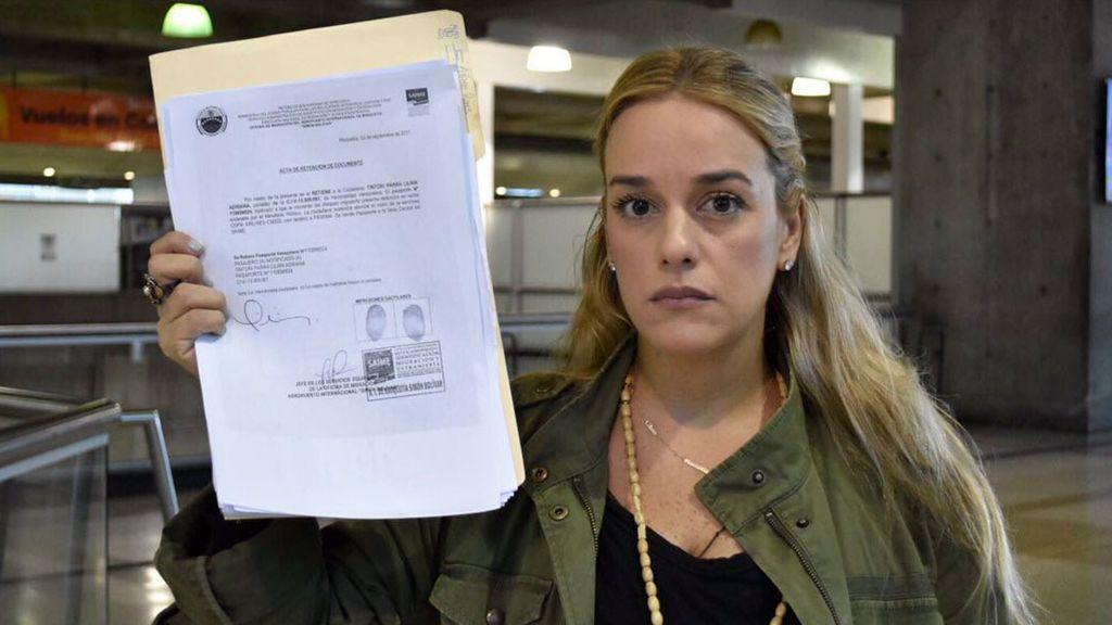 Prohíben salir de Venezuela a Lilian Tintori, que no podrá reunirse con Rajoy, Macron y Merkel