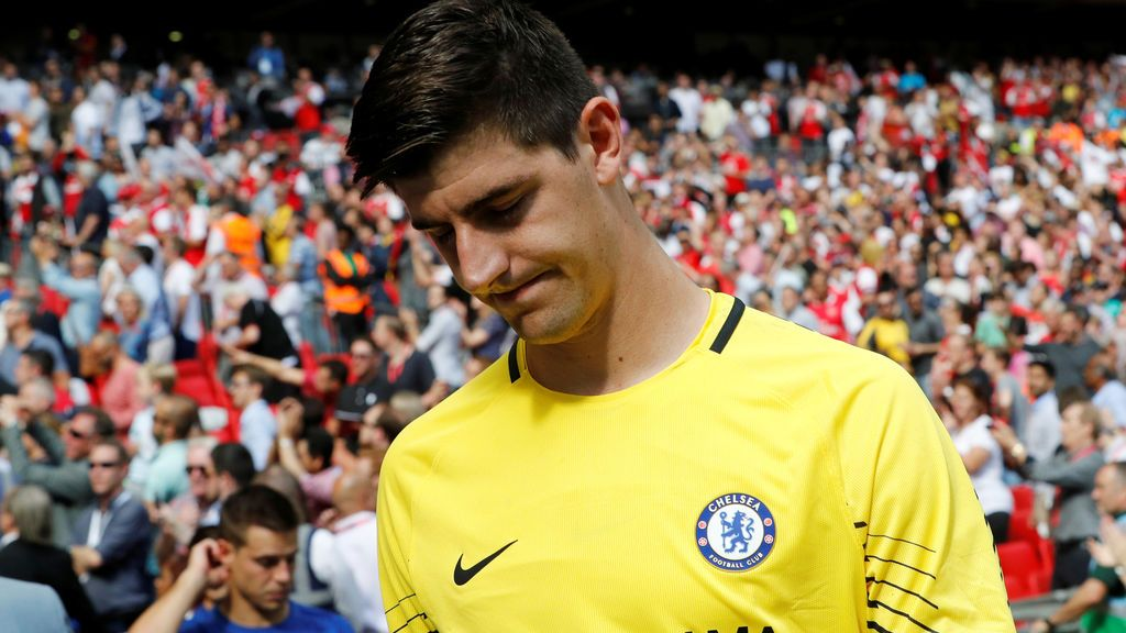 Courtois pide perdón a la afición del Atlético tras el polémico tuit con Diego Costa