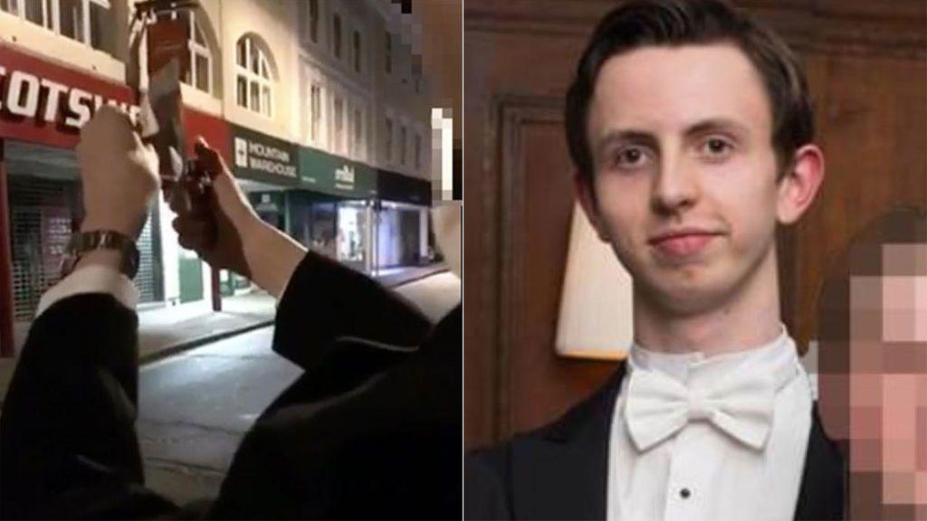 El estudiante de Cambridge que quemó un billete de 20 libras delante de un indigente no será expulsado