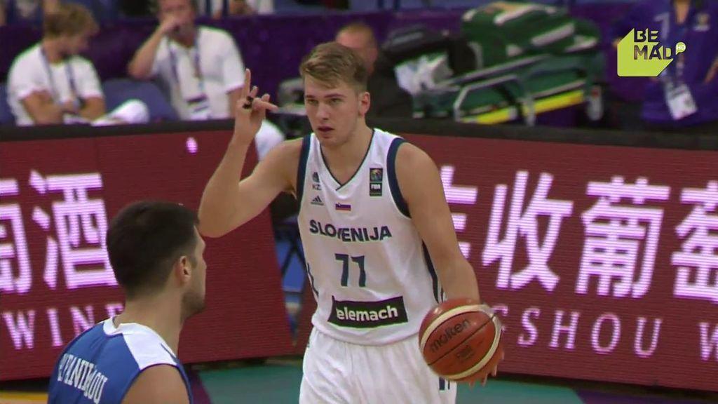 ¡Luka Doncic ya está aquí! El esloveno abre la lata de los triples