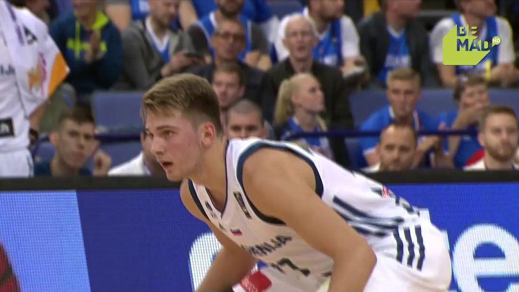 ¡Doncic ya ha llegado al Eurobasket! Jugadón y triple de la joven estrella
