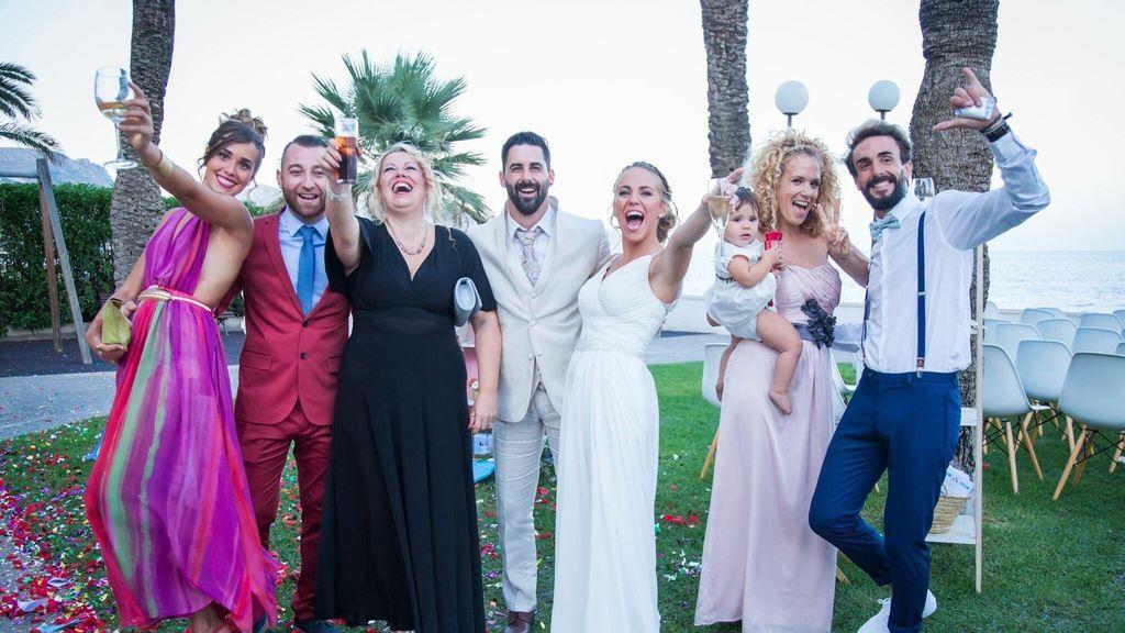 Así vivieron los compañeros de 'Gran Hermano 15' la boda de Yoli y Jonathan
