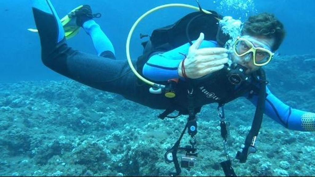 David Bisbal, compañero de submarinismo de Jesús Calleja