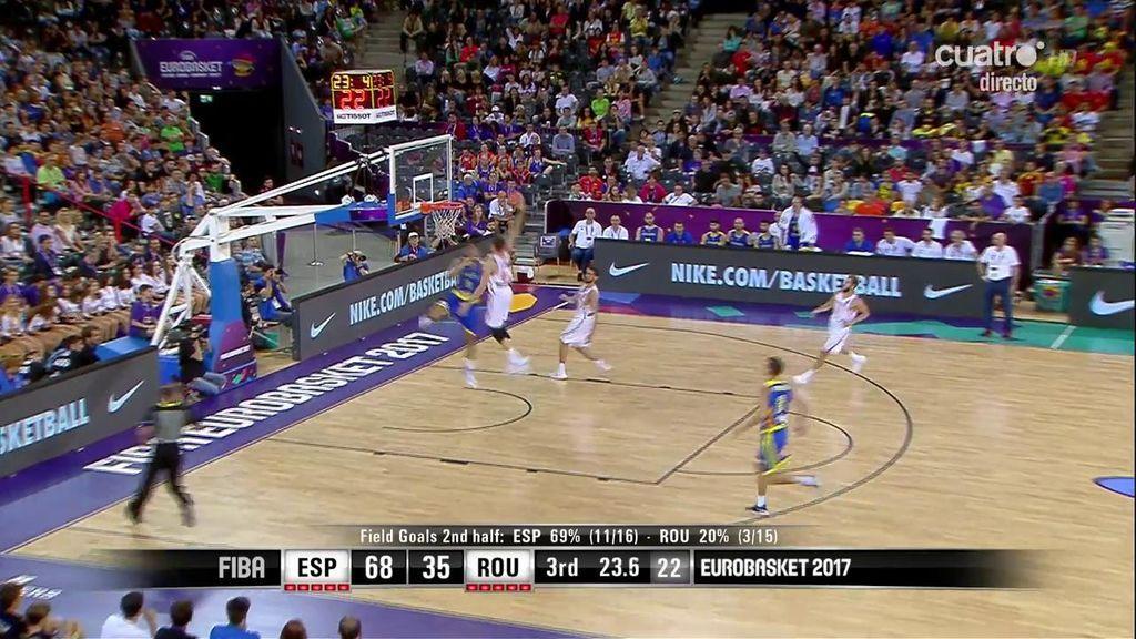 ¡Mate de concurso NBA! Pau Gasol y Navarro alucinan con el salto de 'Air' Juancho Hernangómez