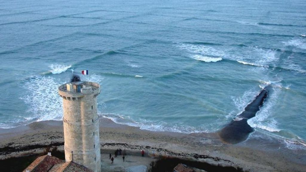 ¿Has visto olas cuadradas? Pues existen y rodean la isla de Ré