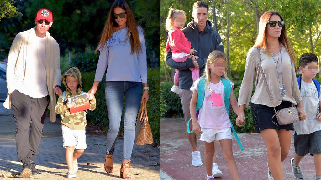 ¡Vuelta al cole! Torres, Blanca Cuesta o Guti, en familia de buena mañana en la 'rentrée' escolar