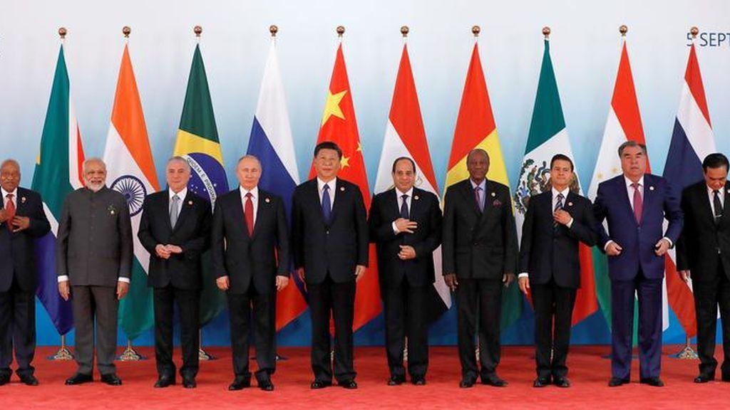 Reunión de los mercados emergentes y países en desarrollo durante la Cumbre BRICS en China