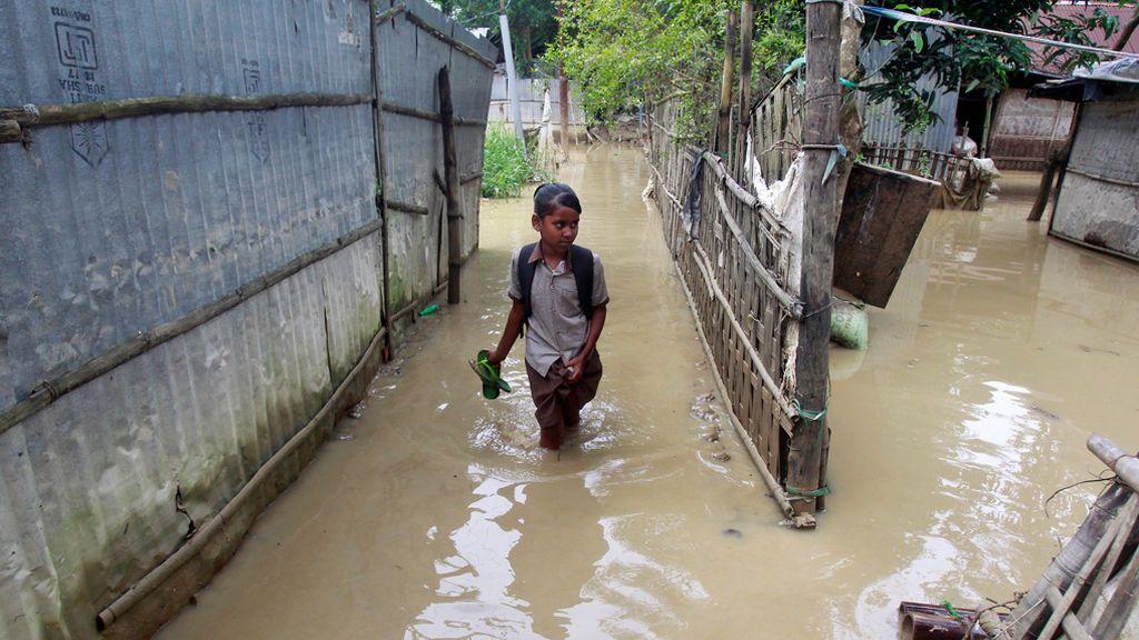 India intenta volver a la normalidad tras las fuertes inundaciones