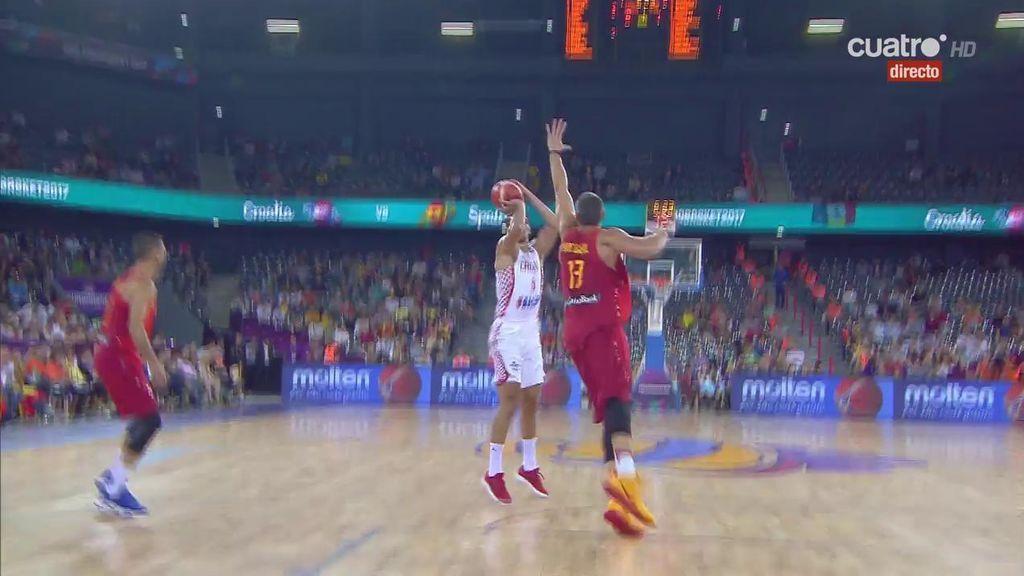 España se atasca en el inicio ante Croacia: parcial de 10-1 en cinco minutos de juego