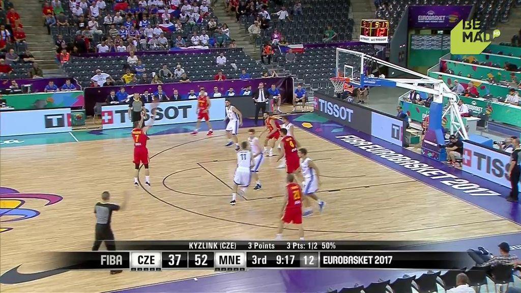 ¡A triplazo limpio! República Checa y Montenegro se abonan al triple en el tercer cuarto
